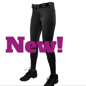 allleson athletics Pants - New - Women's Fastpitch Softball Black Sz XL Pants
